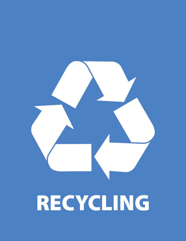 graphic relating to Printable Recycling Signs titled Recycling - Workplace of Sustainability - College or university of