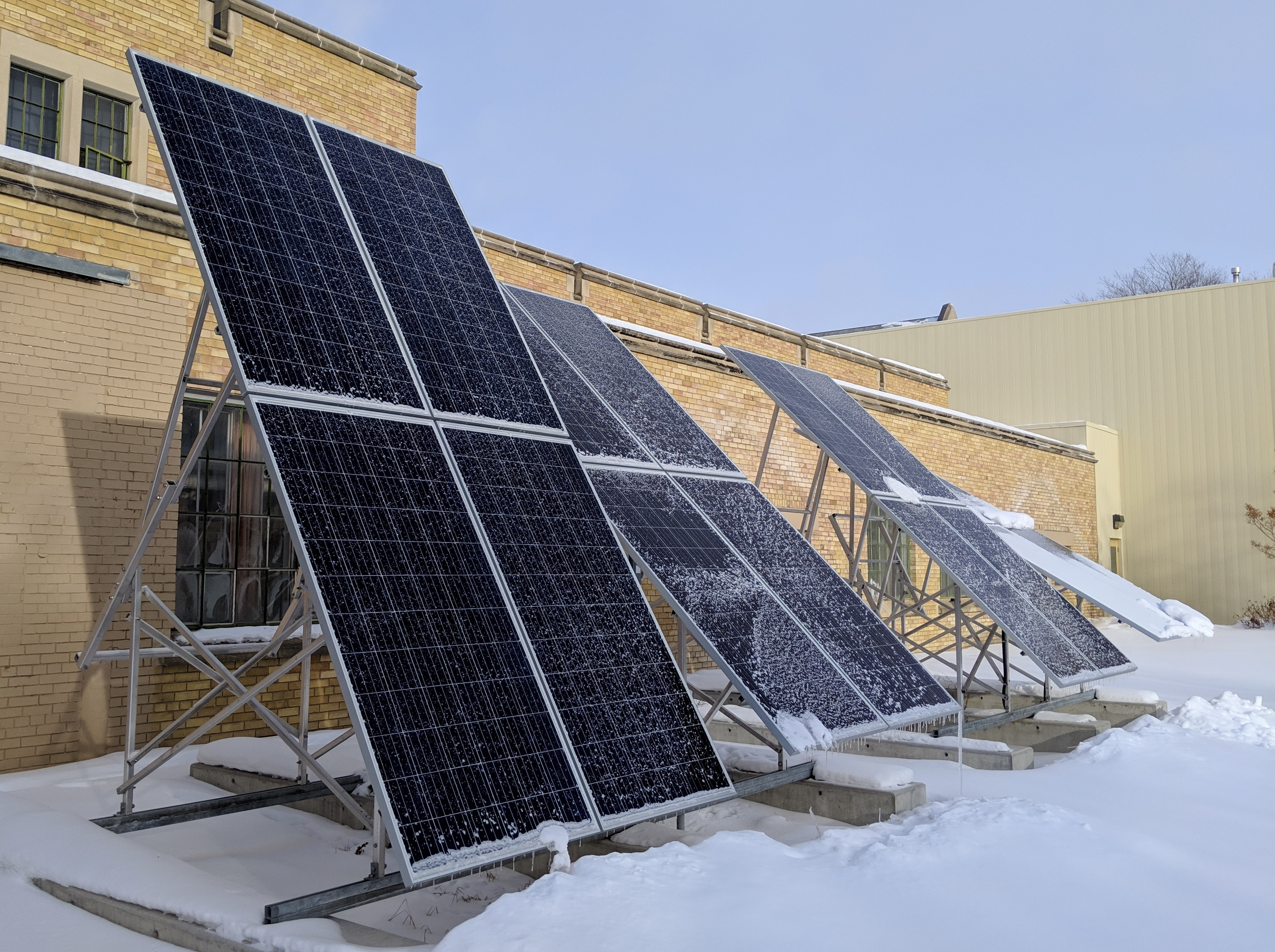 Solar array at the John Mitchell Building on the U of S campus
