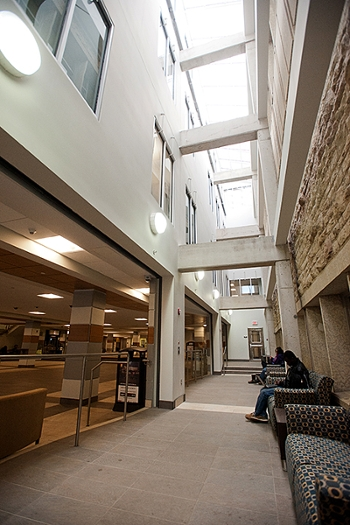 A picture of the Place Riel Student Centre Expansion showcasing enhanced daylighting