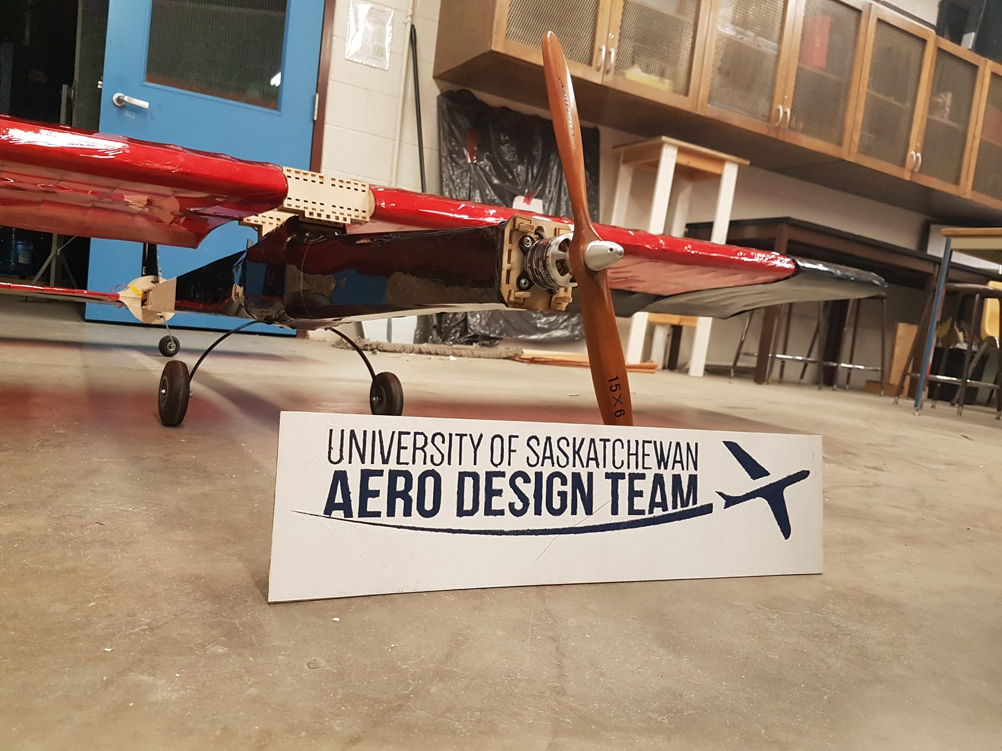 The U of S Aero Design Team's balsa wood aircraft design