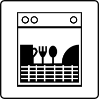 A vector image of a dishwasher