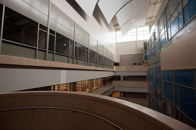 A picture of Academic Health Sciences Building's D-Wing showcasing its daylighting
