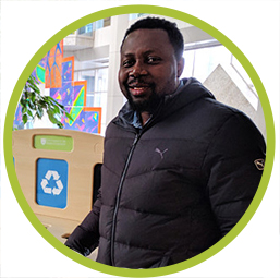 Odili Obi, Waste Prevention Co-ordinator at the U of S Office of Sustainability